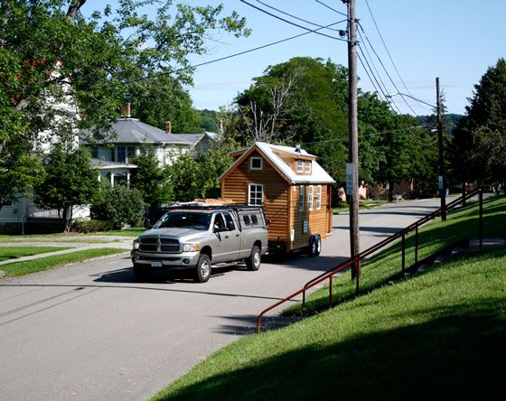 ProtoHaus: Cozy House on WheelsMobiles Home, Tiny Houses, Guest House, Guesthouse, Camps, Levitation Beds, House On Wheels, Small Spaces, Mobiles Ev2