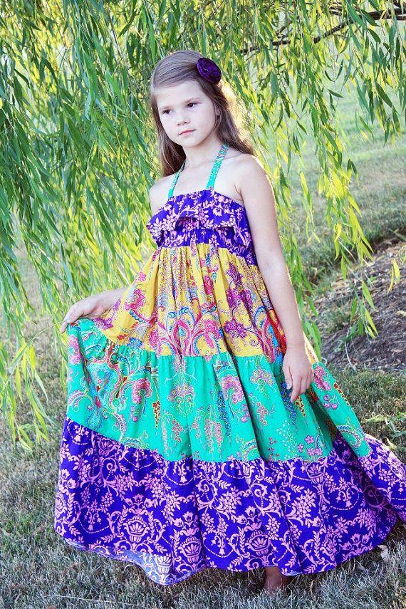 Cora's Tween Tiered Maxi Dress Sun Dress and Top PDF