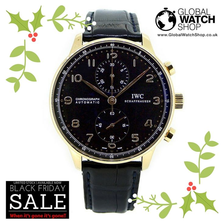 The IWC Portugieser Chrono in Rose Gold  #BlackFridayDeals Click, be quick!