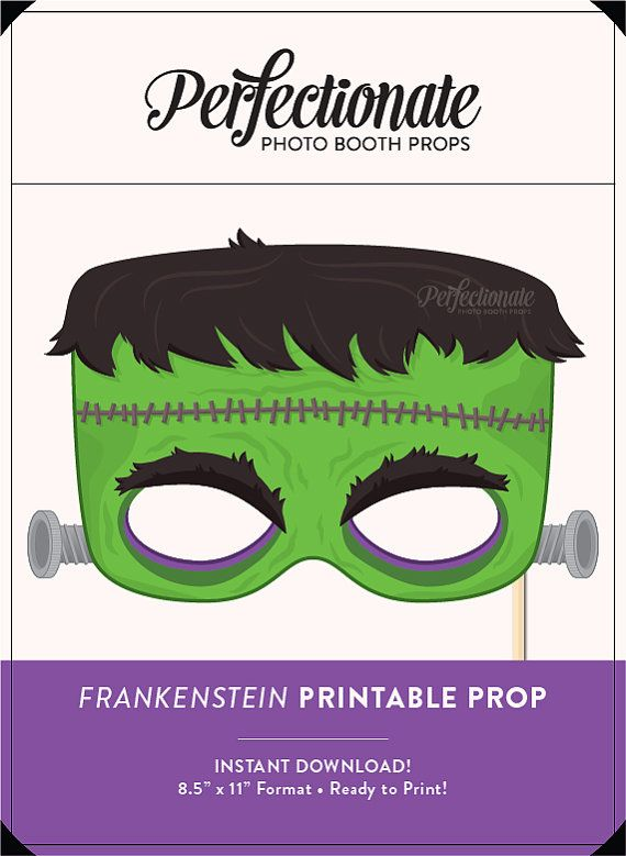 Printable Frankenstein Mask Printable Halloween Props DIY Frankenstein Mask DIY Frankenstein Prop  Print, cut and assemble your own full-size