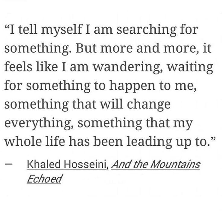 Khaleid Hosseini, And the mountain echoed