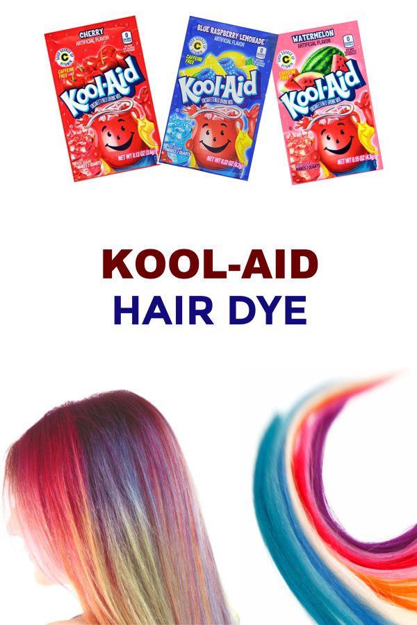 Kool Aid Hair Dye Kool Aid Hair Kool Aid Hair Dye Diy Hair Dye