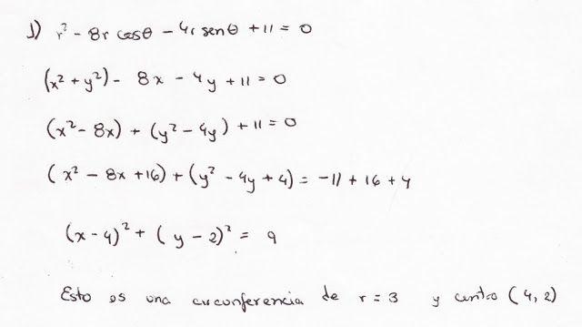 transformación de coordenadas polares