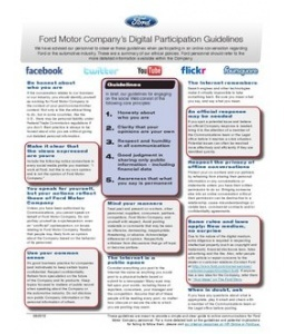 Ford Motor Company's Digital Participation Guidelines Internet Site, Media Guidelines,  Website, Ford Motors, Web Site, Social Media, Socialmedia Policy, Ford Social, Medium