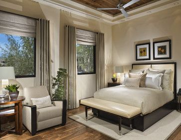 Ceiling, fan, bedding, space plan, color scheme, flooring, bed...  Contemporary Residence #3 - contemporary - bedroom - salt lake city - Bridgwater Consulting Group
