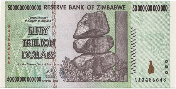The second highest denomination of Zimbabwe Currency. These banknotes are beautiful and in mint condition