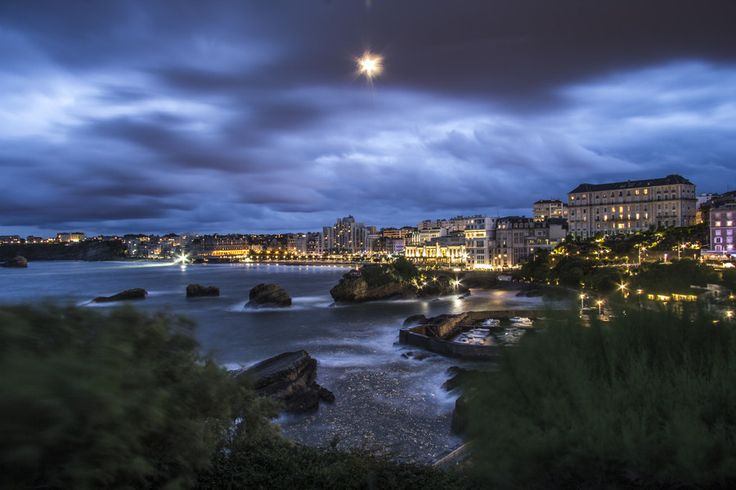 Biarritz at night by Felix Lenniger on 500px