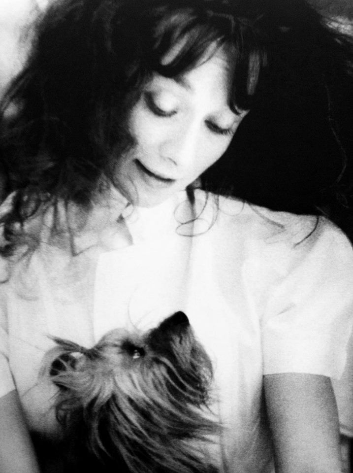 Audrey with her dog