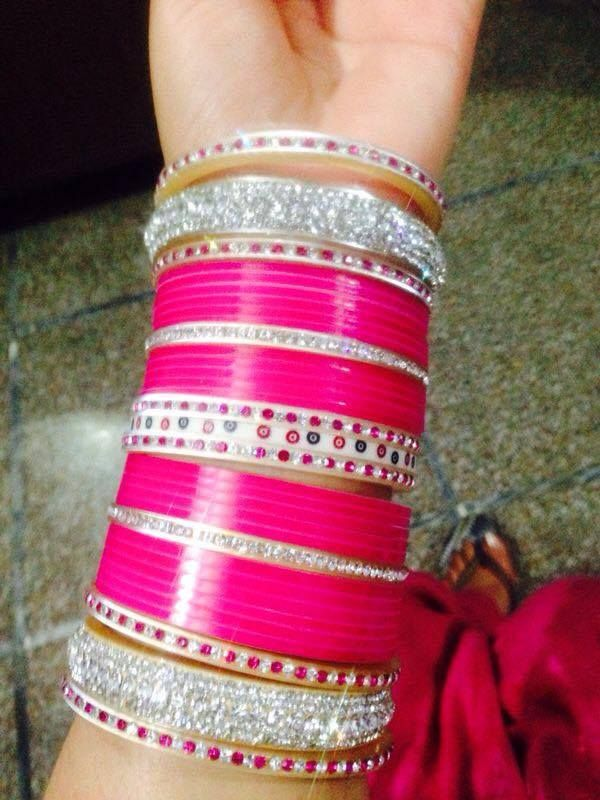 Pink Punjabi Traditional Chur.  Website For Purchase : www.weddingchura.com Whatsapp For Purchase : +91 9416307694