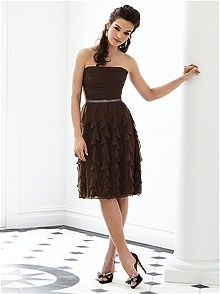 Trendy I wanted brown bridesmaids dresses and an ivory wedding gown