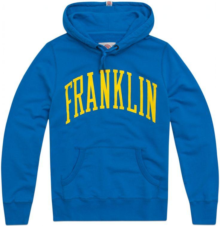 Sudadera de hombre con capucha y motivo de texto Franklin.