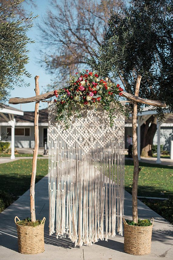 3.5' x 6' macrame backdrop by Joy Loop Designs
