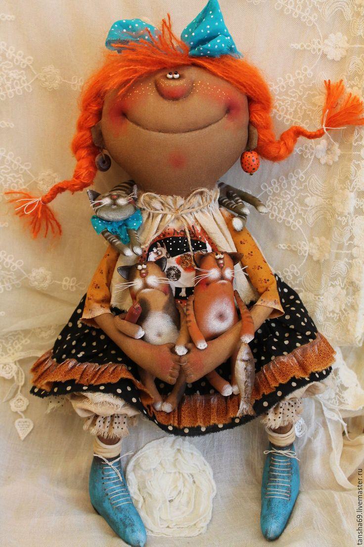 Купить Кошкоф много нибываит!...(по мотивам) - комбинированный, текстильная кукла, ароматизированная кукла