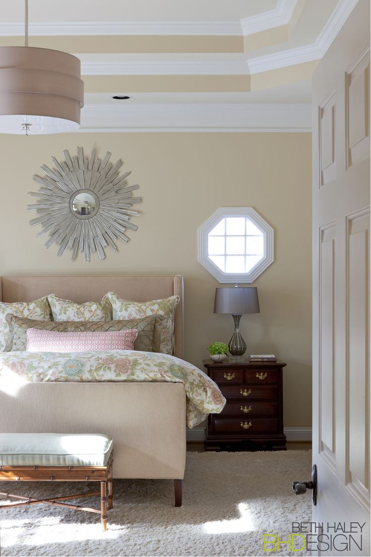 Master Bedroom with a light color palette