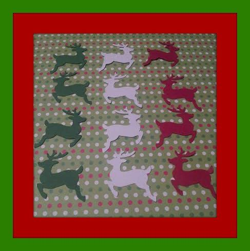 150 Choice of Colors REINDEER CONFETTI  by JustBeeBoppinAround