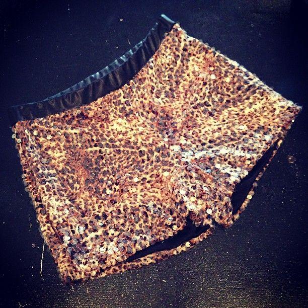 Sequin Cheetah Shorts