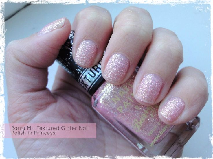Barry M Textured Glitter Nail Paint in Princess - Review by Beauty Best Friend