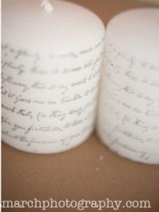 Como fazer velas decoradas com frases - Vale o Clique!