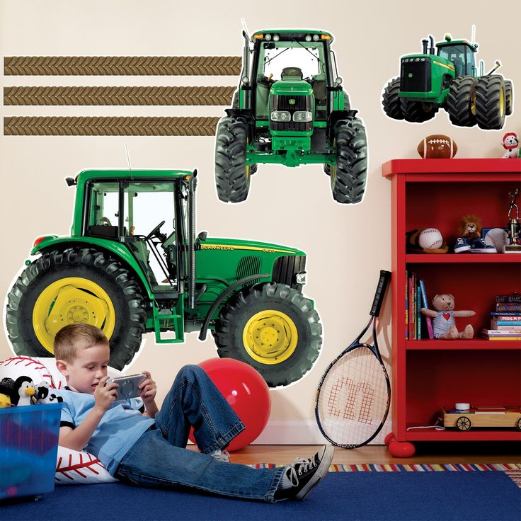 Finish Logan's room...a year later...with these John Deere decals to match his bedding!