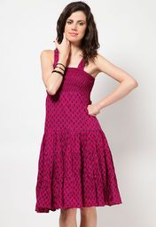 knee length dresses online india
