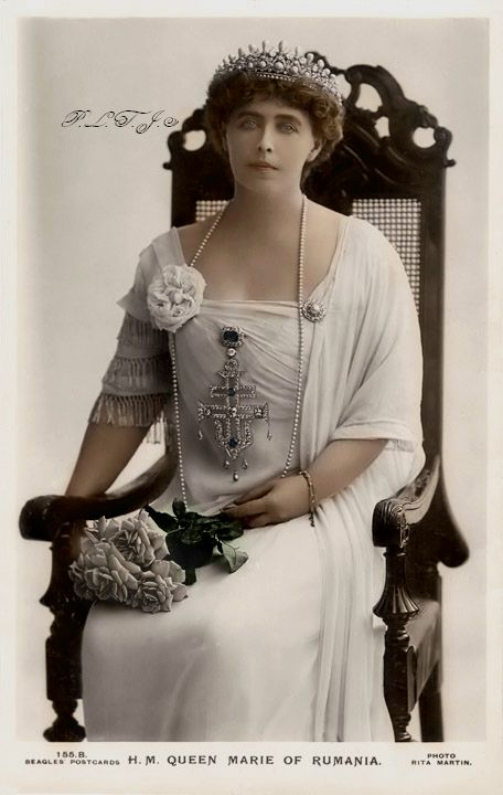 Post card photo of Queen Marie of Romania by Linnea-Rose on DeviantArt