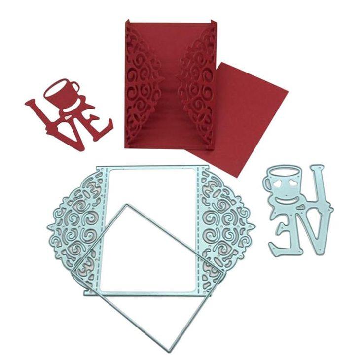 Metal Die Cutting Dies Wedding Invitation Card Maker DIY Scrapbooking Photo Album Decorative Embossing Folder Stencil u70525