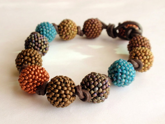 Beaded Beads Copper Turqouise and shades of Gold by GlassTortoise, $35.00Beads Beads, Copper Turqouise, Beads Copper