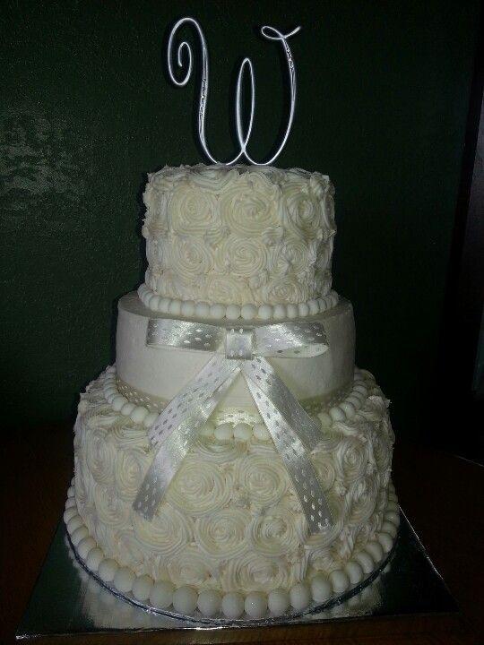 Rose Swirl Wedding Cake Wedding Planning Pinterest ...