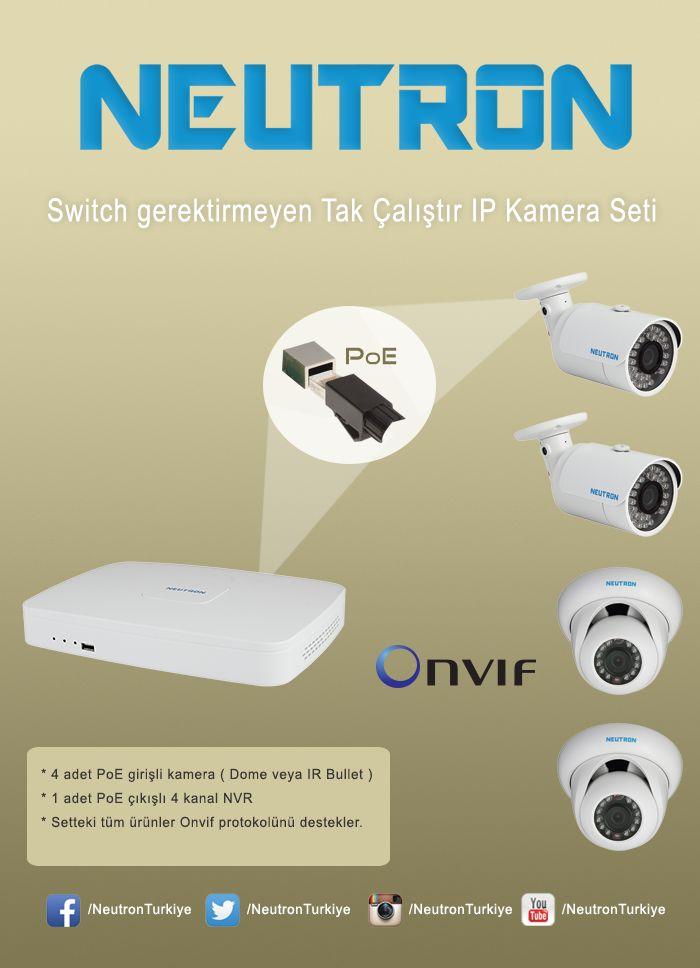 Switch gerektirmeyen tak çalıştır IP kamera seti