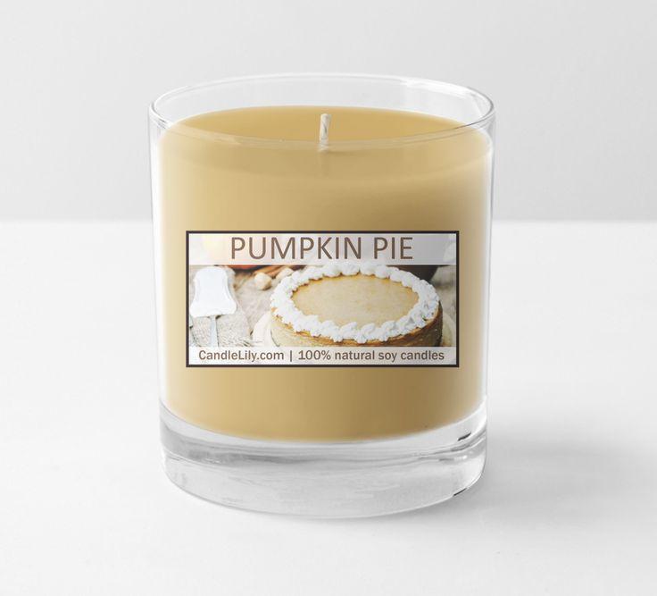 Pumpkin pie Christmas candle 100% soy wax 13 oz glass jar