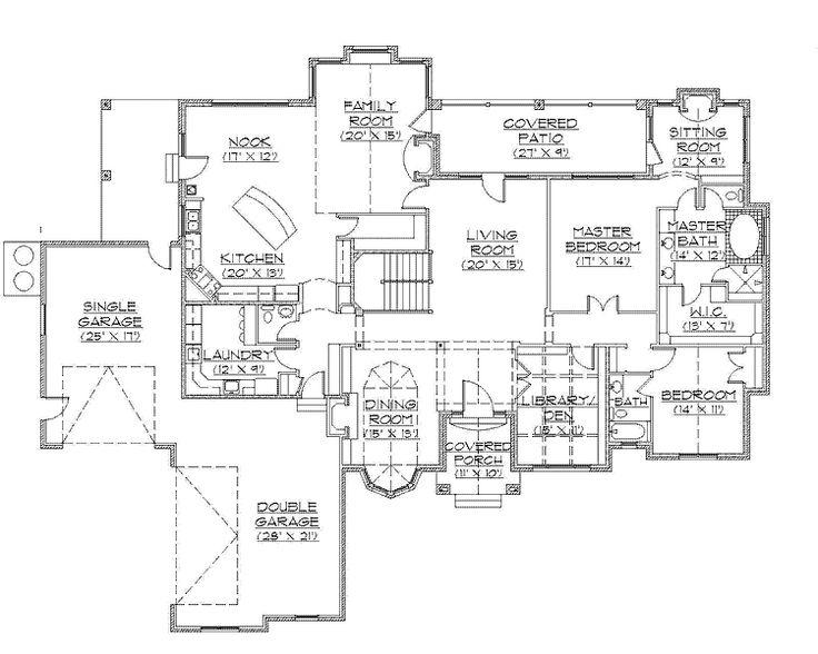 rambler house plans | ... Rambler House Plan (HWBDO75106) | Traditional House Plan from