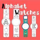 Alphabet Watches. Roller English Blog: www.rollerenglish.blogspot.com