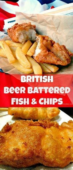 The BEST EVER Beer Battered Fish and Chips! Great flavours and don't forget your shake of vinegar and sprinkle of salt!