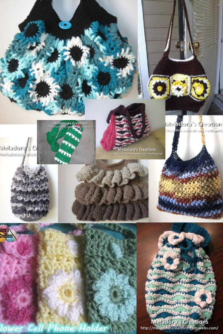 171 best crochet bags purses baskets etc images on pinterest 11 bag patterns with video tutorials for both right and left handed by meladoras creations crochet pouchfree bankloansurffo Image collections