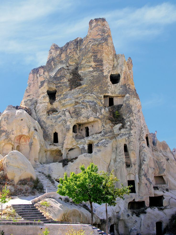 De old monastic complex of Goreme (open air museum), declared as UNESCO World Heritage Site in Tufanbeyli, Adana_ Turkey