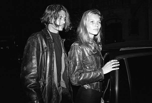 Slideshow: The Most You'll See of Johnny Depp Tonight -- The Cut: Johnny Depp, Style, Katemoss, Couple, 90S, Leather Jackets, Johnnydepp, Design Blog, Kate Moss