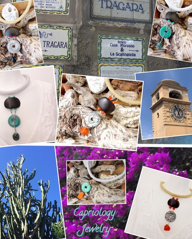 All kinds of beauty mixing..... Creations from Capriology Jewelry, handmade on the beautiful island of Capri, Italy.