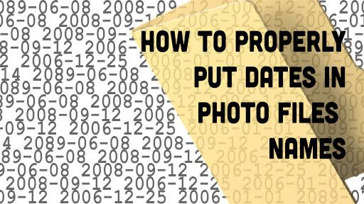 do your photo files have dates in them? They probably should so you can easily track them and know when they were taken even if they are not in their original folder.  But... the big questions is how do you put the date in the file name? Apparently there are a lot of wrong ways and one right way. The matter of dating files is not exclusive to photography and since it has such a broad scope there is a standard way of doing it. It is called ISO 8601 (now, don't get me wrong, you can name your…