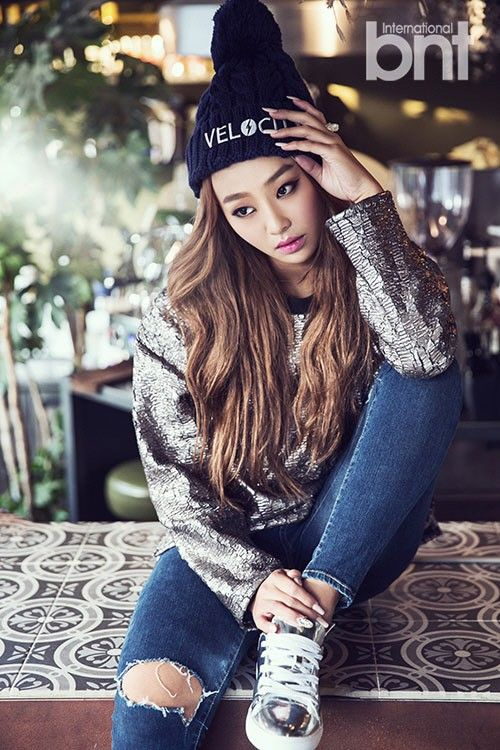 Hyorin is sporty and fashion forward in International BNT pictorial