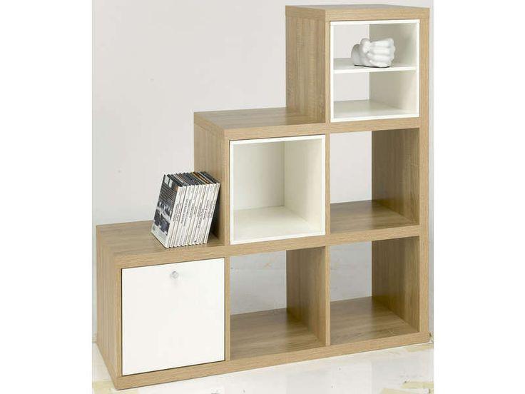 Bibliotheque bois ALVIN - Vente de Bibliothèque - Conforama