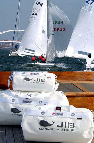 【From & Color】  ●Pure White   ヨットのセイルはほとんどが白   JIBのコンセプトカラーは「白」。汚れたら、そのためにJIBバッグはじゃぶじゃぶお洗濯できるようになっています。