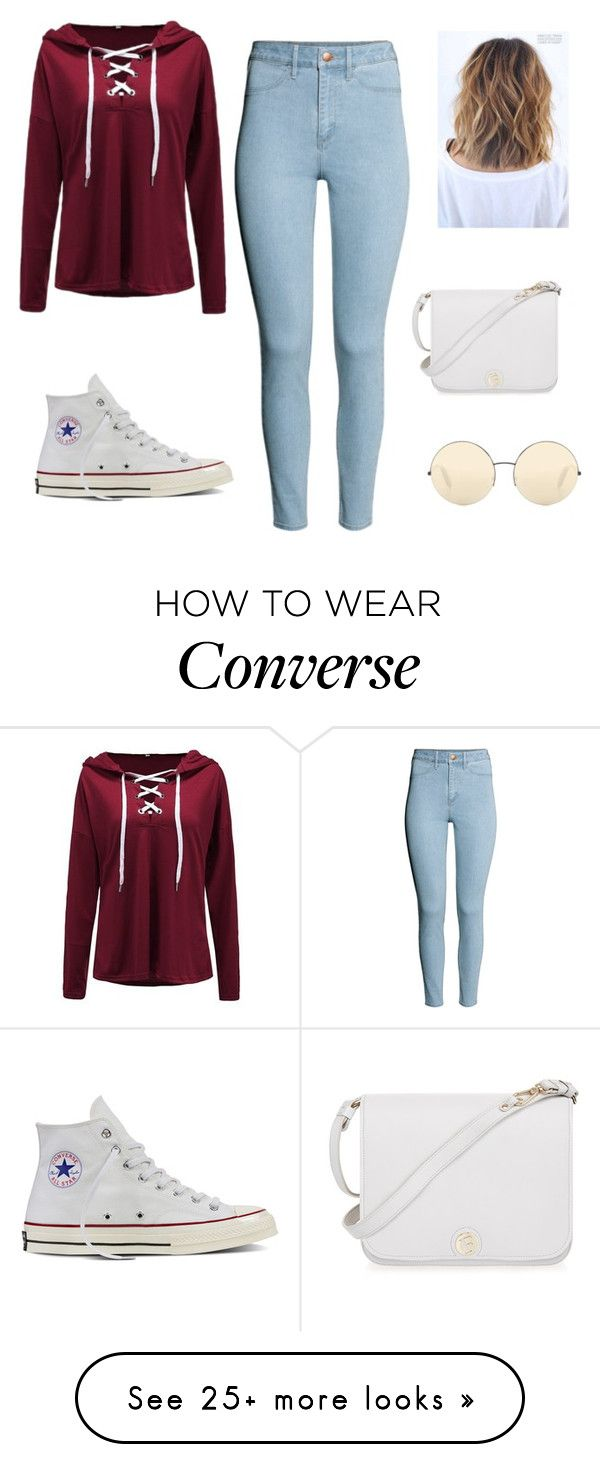 """Cute yet simple!"" by lovecupcakes22 on Polyvore featuring H&M, Converse, Furla and Victoria Beckham"