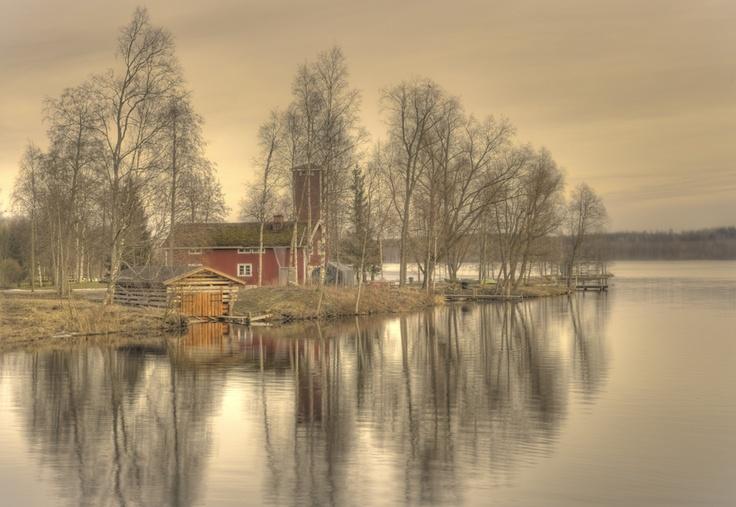 Tranquility River Pappilanjoki, Hämeenkyrö  photo by Sakari Lampola flickr