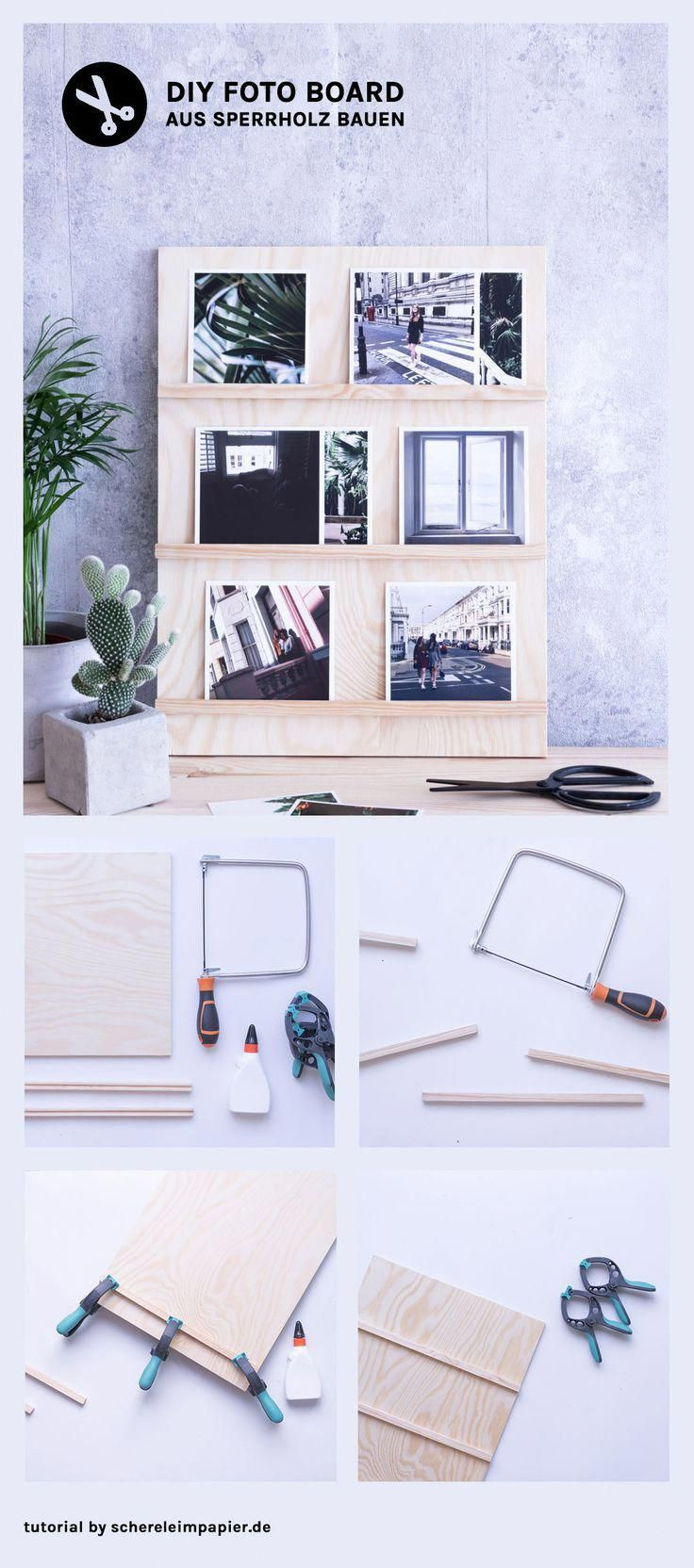 Home design bilder im freien diy bilderrahmen gestalten foto display board aus sperrholz selber