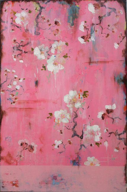 Pink Silk and White Roses  kathefraga.com