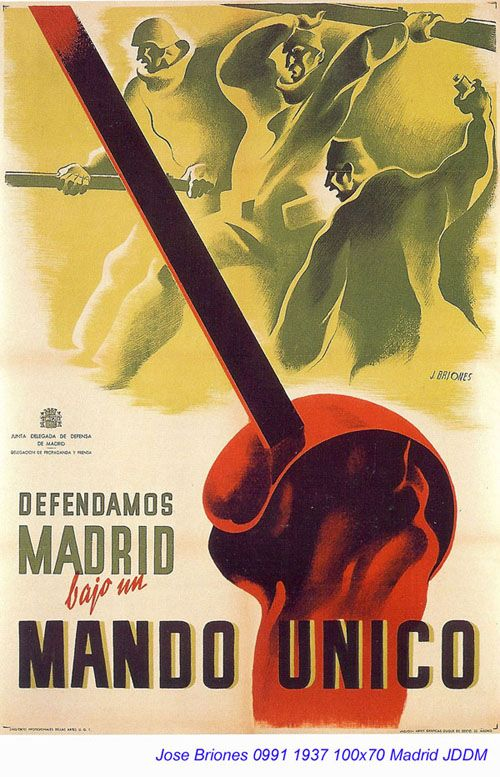 Spain - 1937. - GC - poster - autor: Jose Briones
