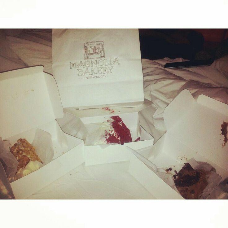 Magnolia Bakery ... Red Velvet, Zanahoria y Chocolate ... Muriendo en 3..2..1 NYC