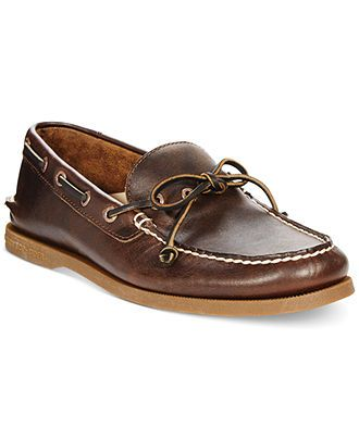 Sperry Top-Sider A/O 1-Eye Leather Boat Shoes - Boat Shoes - Men - Macy's