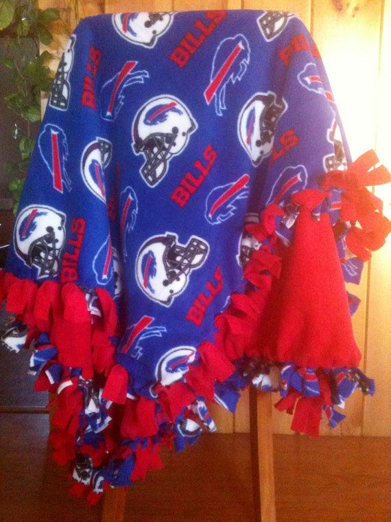 Hand Tied Fleece NFL Buffalo Bills Blanket/Throw