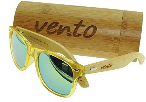 Oferta: 29.7€. Comprar Ofertas de Vento® modelo Chinook YellowTwice - Gafas de sol de madera de bambú, diseñadas en Italia con certificados CE y protección UV4 barato. ¡Mira las ofertas!